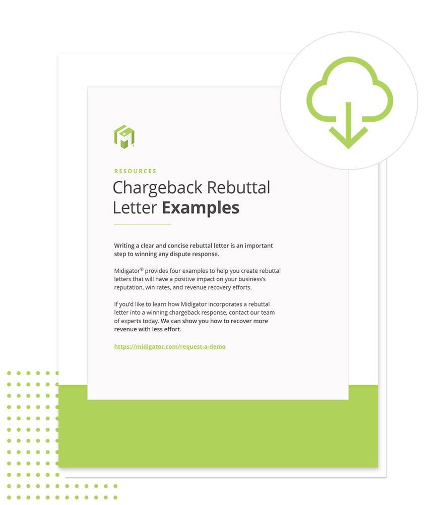 Chargeback Rebuttal Letters Sample Template Midigator Rebuttal letter for credit card dispute